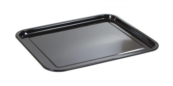 Durable glossy vitreous enamel coated oven tray