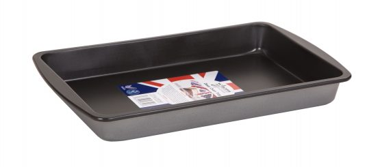 Double non-stick coated 0.3 gauge steel Deep Oven Tray