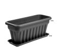 A Long Trough in Black with a Base to Catch any Spills