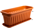 A Long Trough in Terracotta with a Base to Catch any Spills
