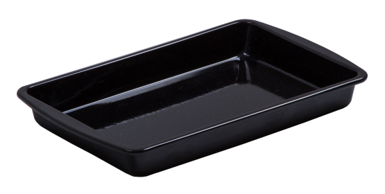 Durable glossy vitreous enamel coated Baking Dish