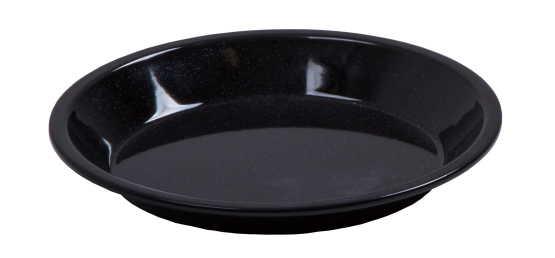 Durable glossy vitreous enamel coated Pie Dish