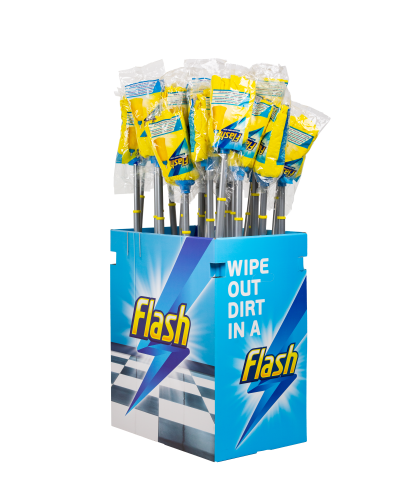 A Display Unit Filled with Flash Mops